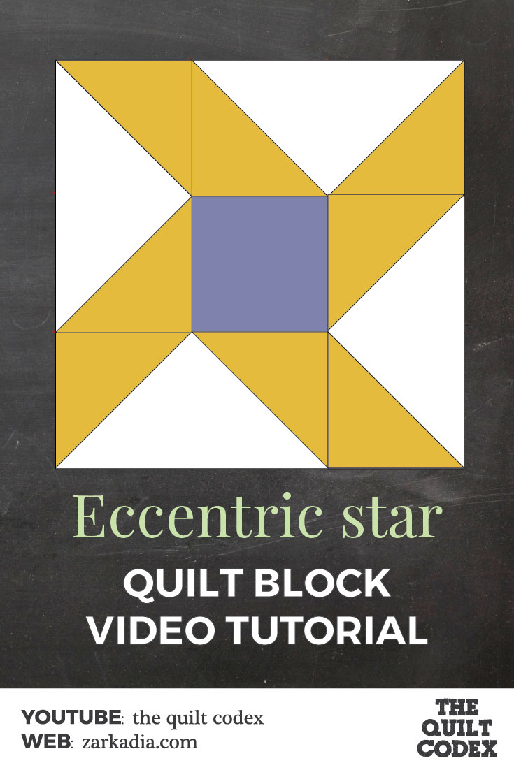 Eccentric star quilt block tutorial