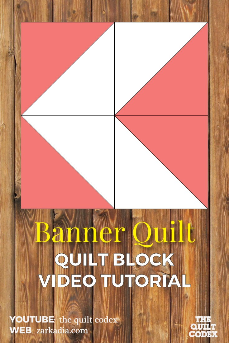 banner quilt block tutorial
