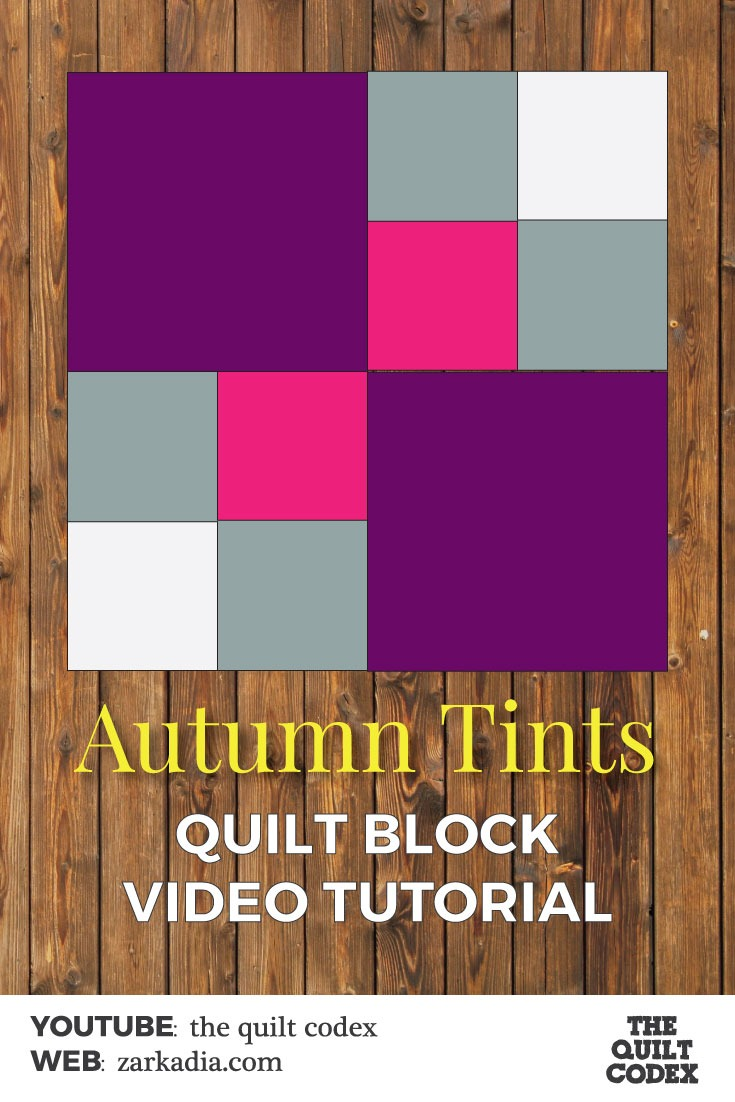 autumn tints quilt block tutorial