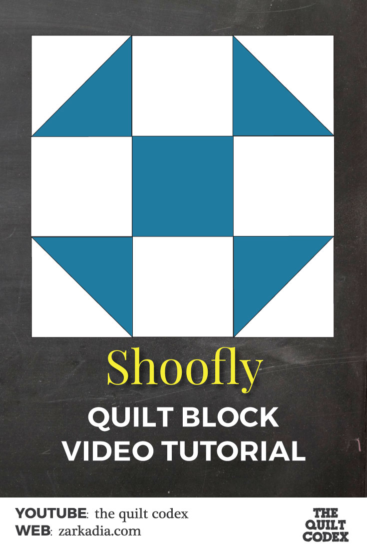 Shoofly quilt block tutorial
