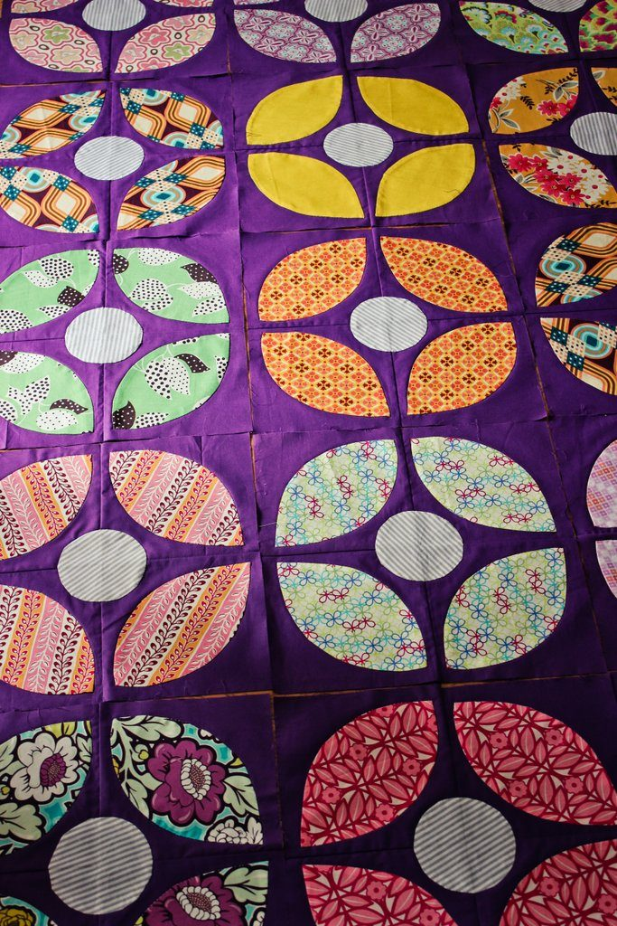 applique orange peels quilt