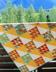 yellow baby quilt