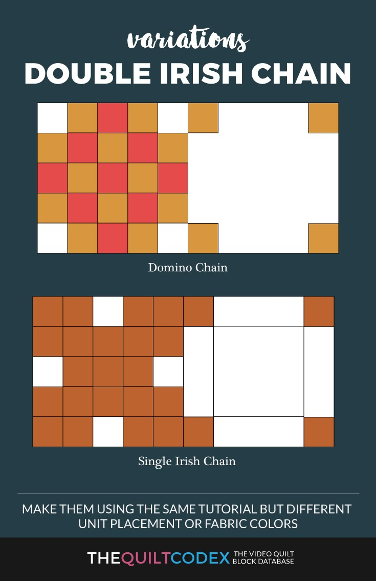 Video Tutorial Double Irish Chain Quilt Block For Beginners
