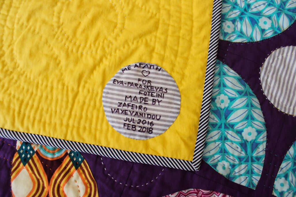 fabric quilt label